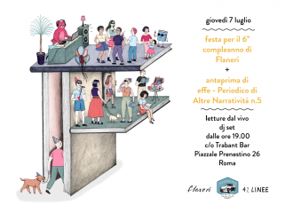 flanerí birthday party poster