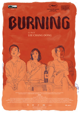 Poster italiano del film Burning su Flanerí