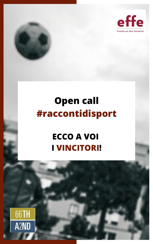 Open call #raccontidisport: ecco i vincitori