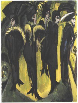 Cinque donne per strada di Ernst Ludwig Kirchner