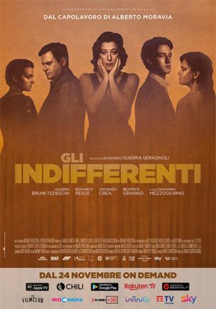 Gli indifferenti poster film del 2020