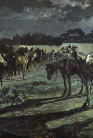 dipinto ispirato a Chostolmér, Il cavallo narratore (1901) di Giovanni Marchini (particolare)