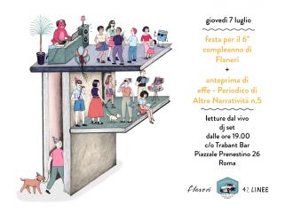 flanerí birthday party poster