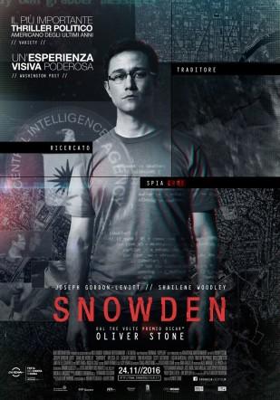 Poster italiano di Snowden su Flanerí