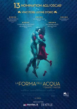 Poster italiano di La forma dell'acqua su Flanerí